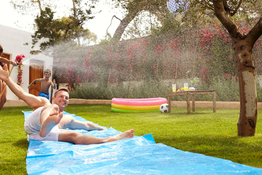 water slide at home